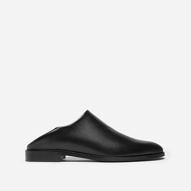 SLIM TOE EVENING SHOE LEATHER Black